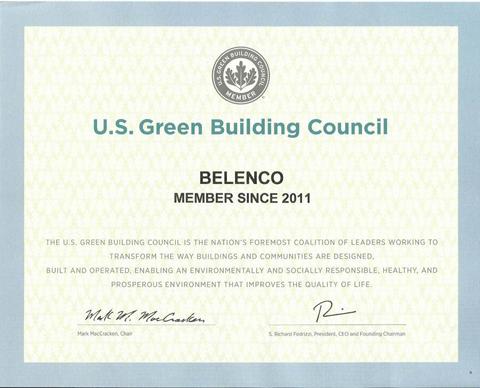 сертификат belenco